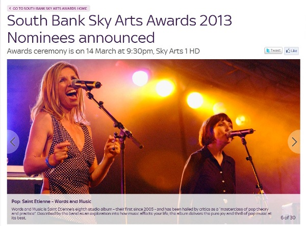 South Bank Sky Arts Award 2013