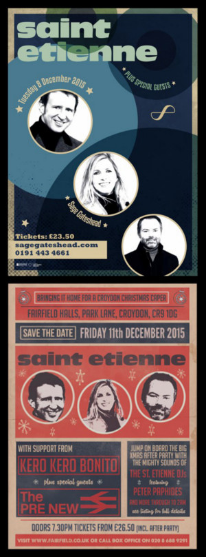 Saint Etienne UK Christmas Tour Dates 2015